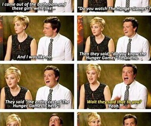 Jennifer Lawrence, josh hutcherson, and funny image