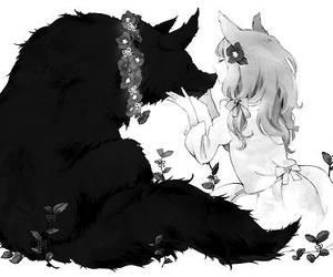 wolf, anime, and manga image