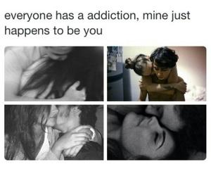 addiction, couple, and hug image