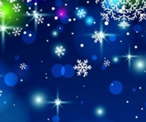 christmas, sparkles, and snowflakes image