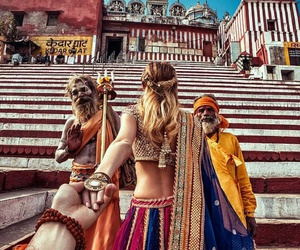 india, couple, and travel image