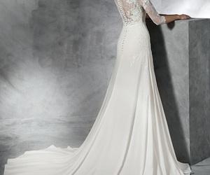 dress, weddingdress, and wedding image