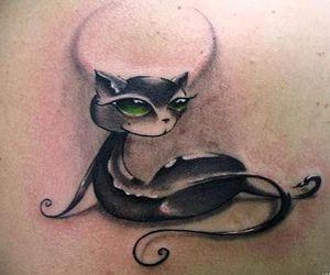 black, black cat, and cat image