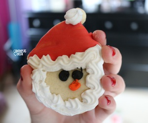 beauty, clothes, and christmas cookie image
