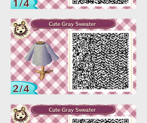 clothes, qr code, and animal crossing new leaf image