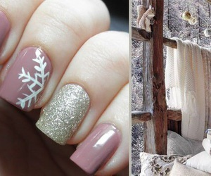 christmas, nails, and newyear image