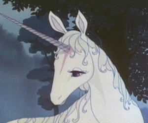 unicorn, anime, and the last unicorn image
