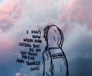 fall out boy, FOB, and clouds image