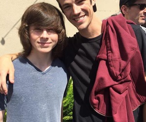 chandler riggs, grant gustin, and the walking dead image