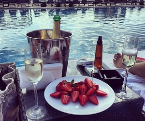 strawberry, luxury, and champagne image