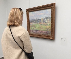 art, blonde, and bye image