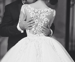 couple, marriage, and dress image