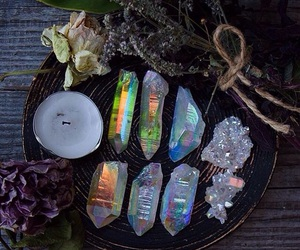 crystal, witch, and gemstone image