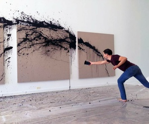 art, black, and painting image