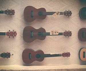 music, brown, and ukulele image