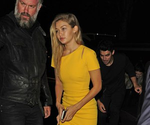 dress, model, and gigi hadid image