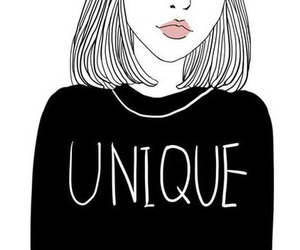 unique, outline, and drawing image