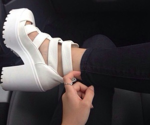 shoes, white, and grunge image
