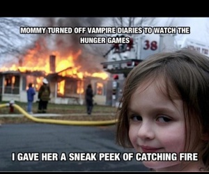 funny, the vampire diaries, and hunger games image