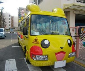 pikachu, pokemon, and bus image