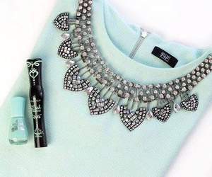 fashion, clothes, and necklace image