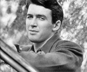 bw, hollywood, and james stewart image