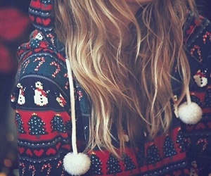 christmas, winter, and hair image