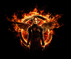 katniss, hunger games, and mockingjay image