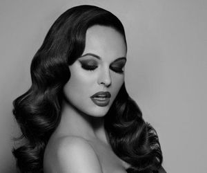 hair, vintage, and black and white image