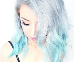 blue, colorful, and girl image