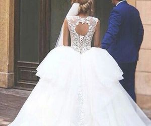 wedding, dress, and love image