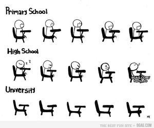 school, funny, and university image