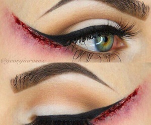 Halloween, makeup, and eyeliner image