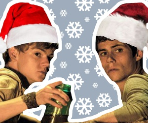 christmas, dylan o'brien, and newt image