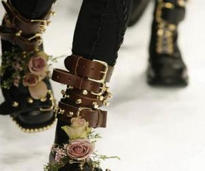boots, flowers, and cool image