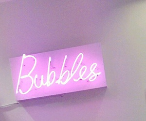 bubbles, pink, and neon image