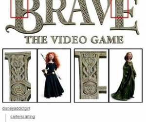 brave, disney, and funny image