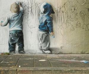 kids, art, and graffiti image