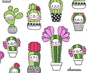 background, cactus, and kawaii image