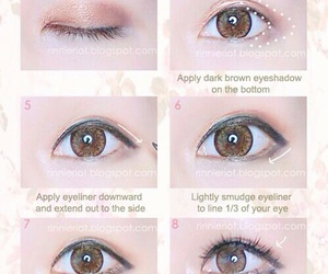 makeup, eyes, and look image