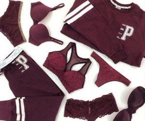 maroon, undergarments, and victoria secret image