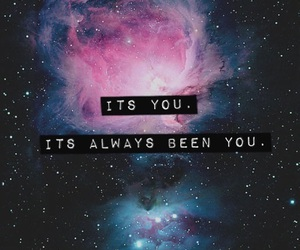 love, galaxy, and quote image