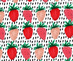 fr, pattern, and strawberry image