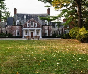 autumn, mansion, and new york image