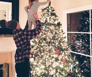christmas, baby, and family image