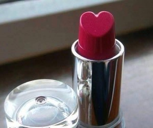 lipstick, heart, and red image