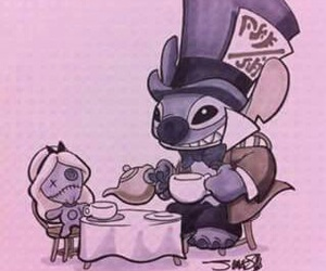 stitch, disney, and alice in wonderland image