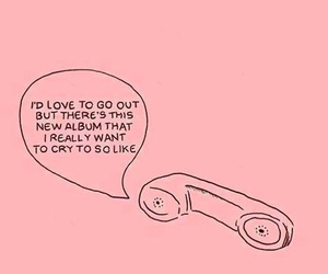 pink, quotes, and music image