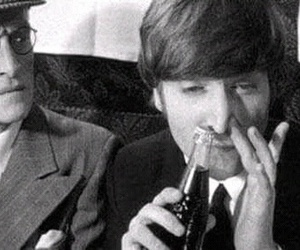 john lennon, coke, and the beatles image