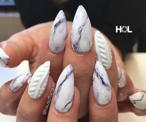 nails, acrylic, and marble image